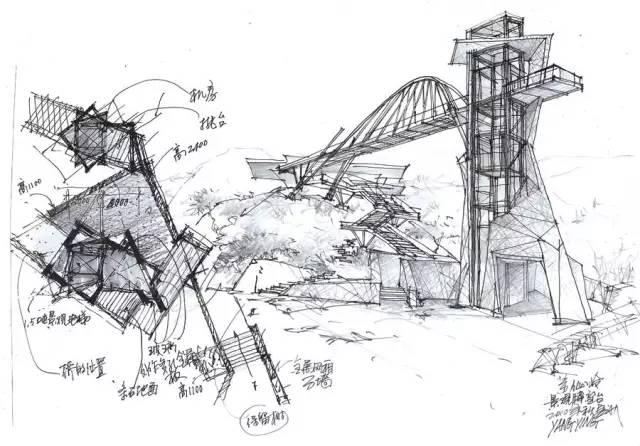 【藏必读】资深设计师建筑手绘稿,覆盖全国53座建筑!图片