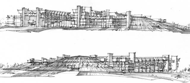 【藏必读】资深设计师建筑手绘稿,覆盖全国53座建筑!