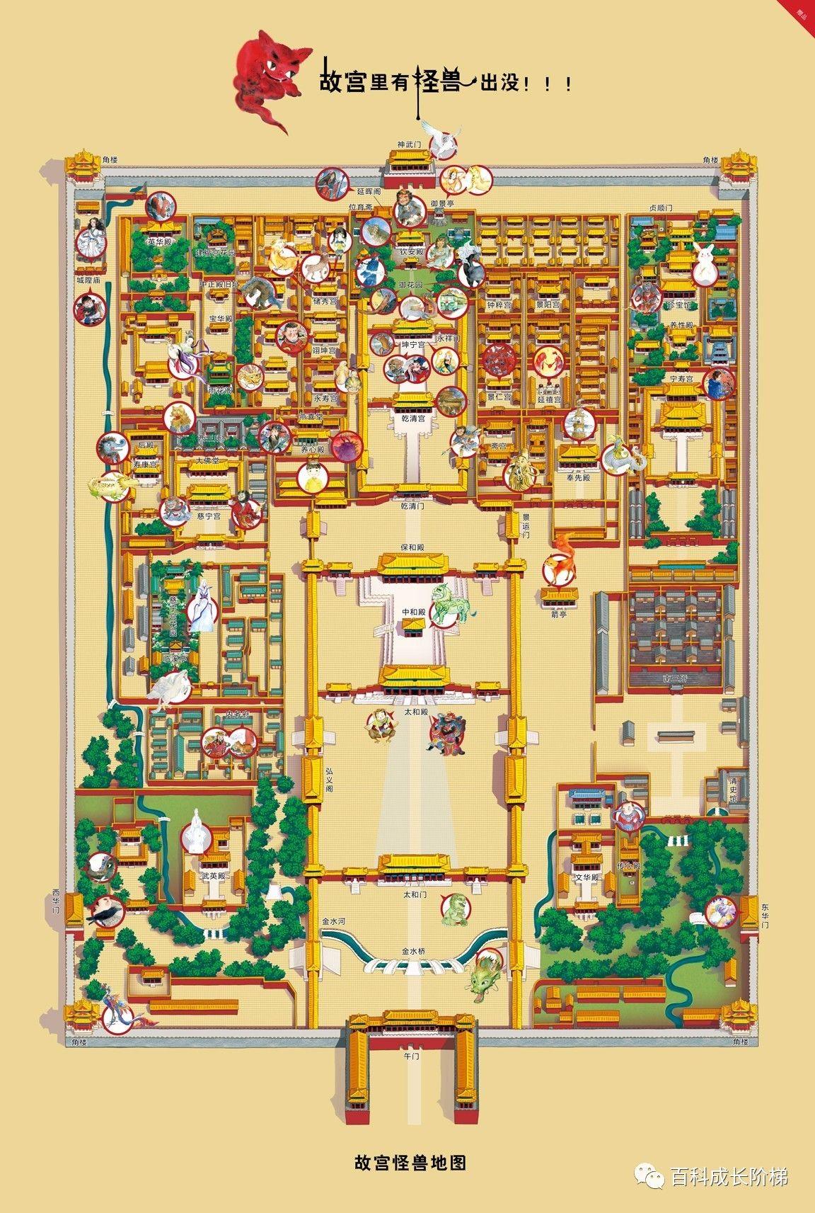 故宫平面图手绘简示图