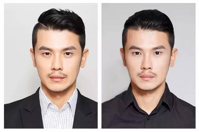 只是顶部的头发要选择更加适合中年人的设计,比如背头油头.图片