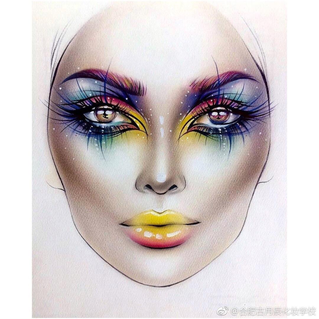创意手绘缔造华丽美妆,惊艳到你了吗?图片