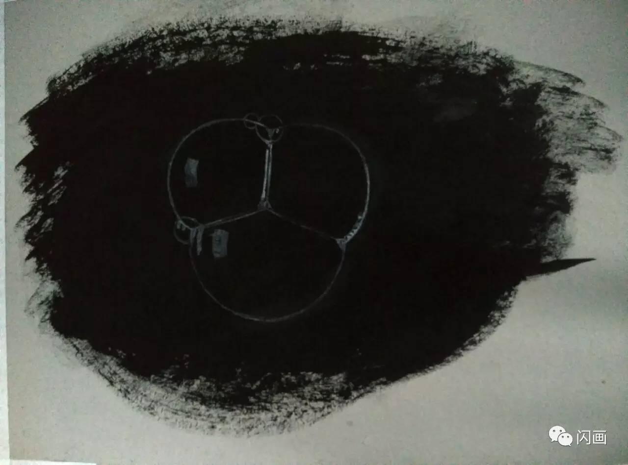 黑卡纸彩铅手绘