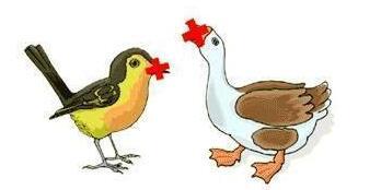 鸭子疯狂猜成语_疯狂猜成语一只鸭子没有脚在走路一排脚印答案