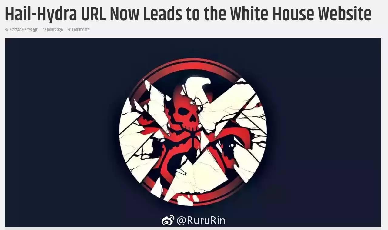这是搞事情啊!点九头蛇网站竟指向白宫官网.