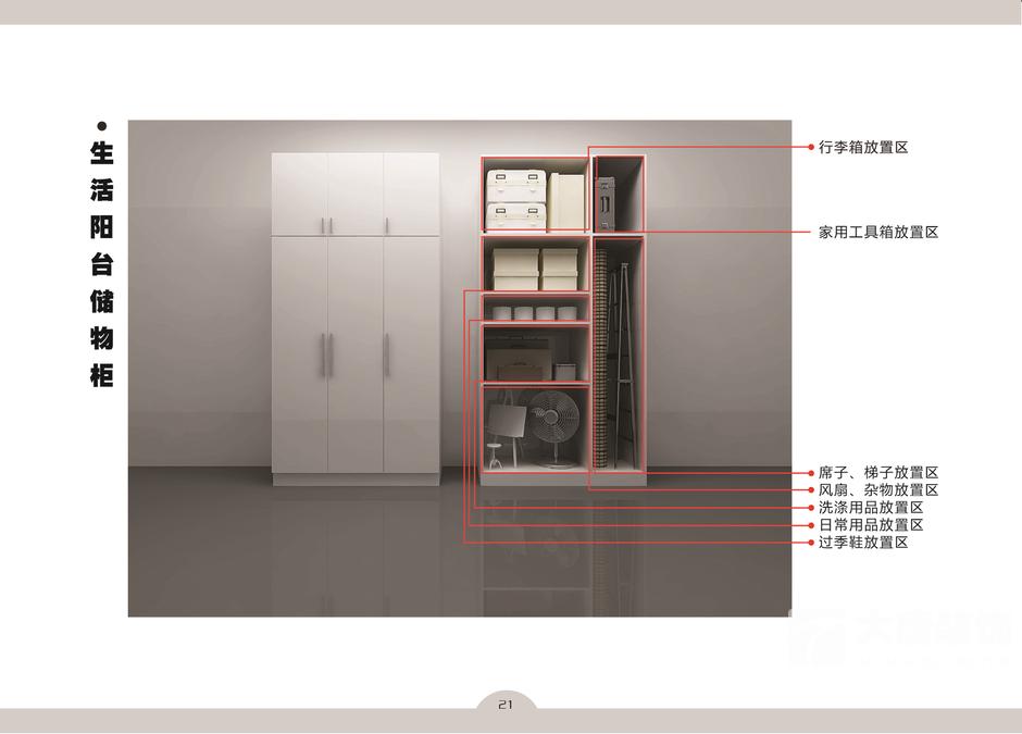 想知道阳台储物柜怎样设计能最大化的利用空间吗?图片
