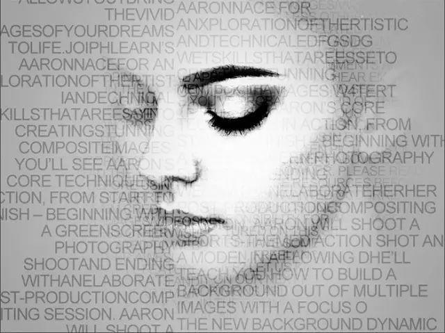 ps制作黑白人物个性字母肖像海报
