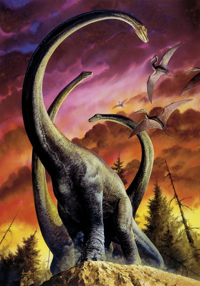 闯叔教你画恐龙丨赫赫有名的马门溪龙,它的长脖子也有不为人知的烦恼