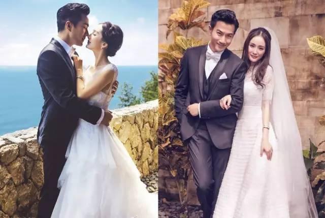 杨幂这套露出手臂,盘起头发的婚纱照造型,也比她婚礼上的这套造型清爽图片
