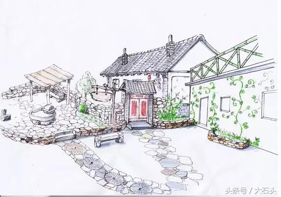 石头银行产品之手绘景观小院