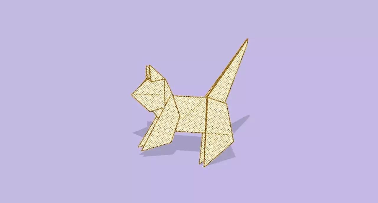 小猫折纸步骤图解法