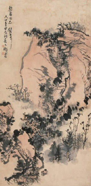潘天寿山水画欣赏