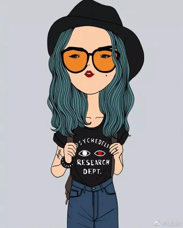 泰国插画师kapi的作品集,时尚复古文艺风女孩,总有一个是你