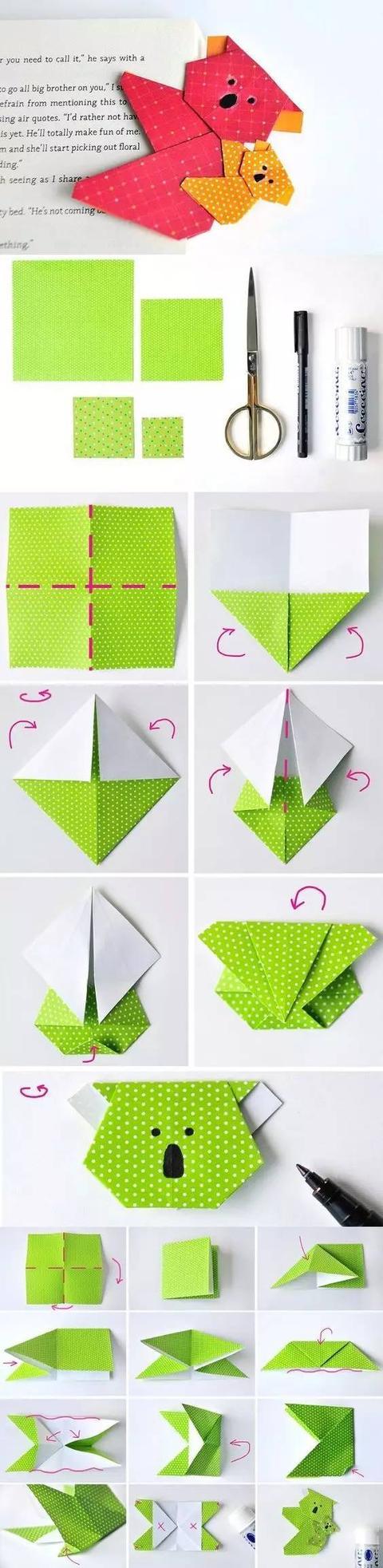 幼儿园手工折纸大全,吊饰,礼物盒等,常用又经典