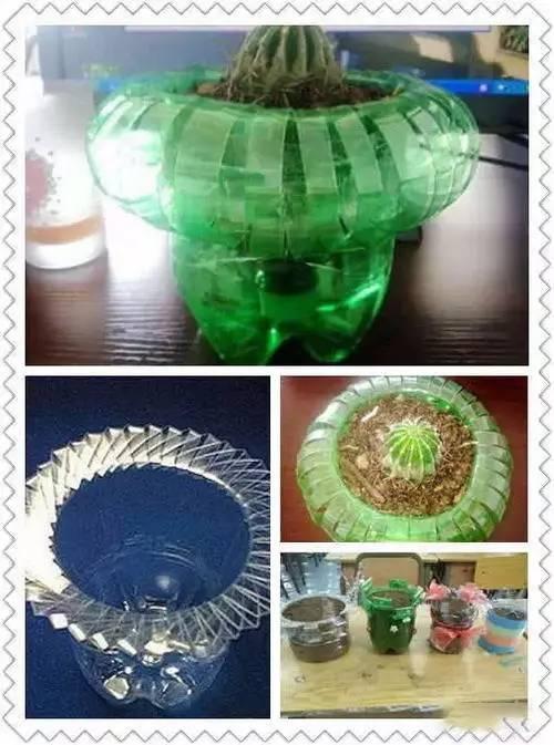 塑料桶变身环创花盆