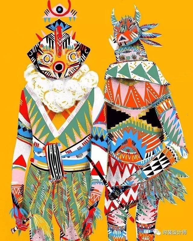 来自非洲原始部落的高定 非洲伪装术 传统节日服饰 Phyllis Galembo图片