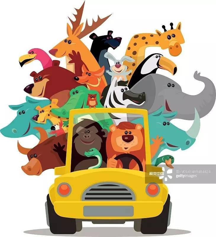 猜猜下面这张满载动物的小汽车的插画作品是被哪类客户购买?
