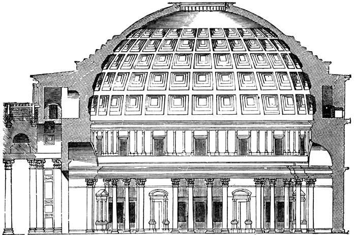 罗马穹顶手绘图