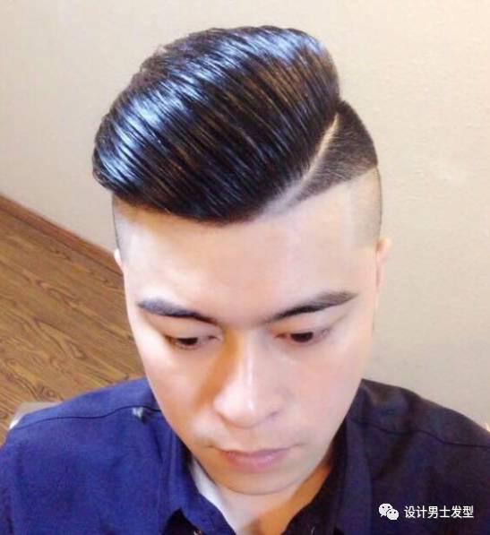 有品位的男士油头发型图片