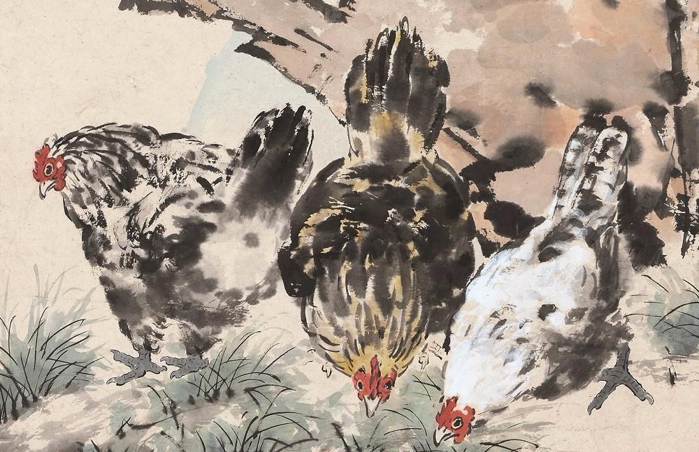 文化 正文  在徐悲鸿的动物画中,鸡是一项重要的题材,尤其是雄鸡,富有