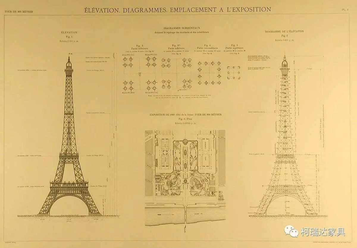法国巴黎埃菲尔铁塔建成于1889年,高度324米,是世界建筑史上的技术