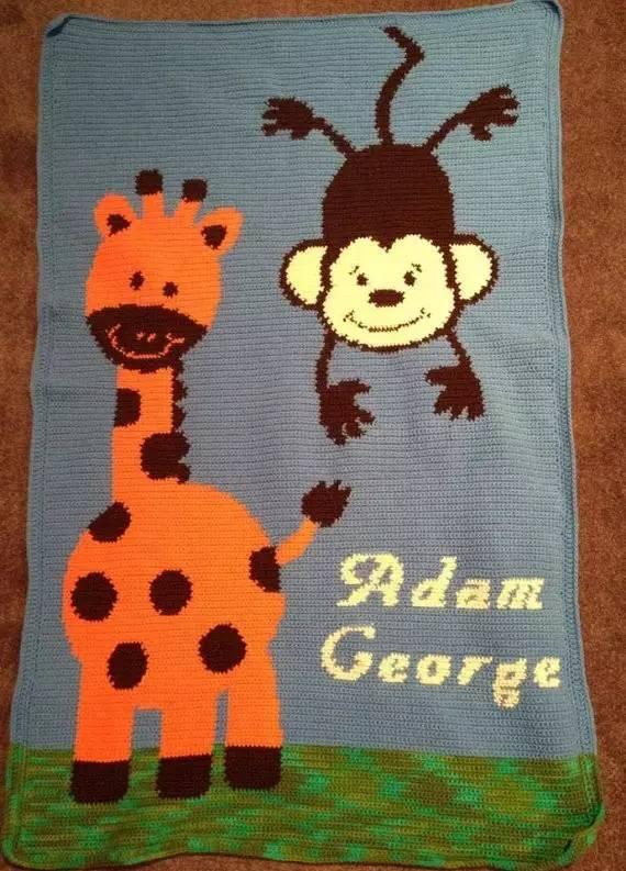 第三条可爱动物钩针毯子,绝对让你家宝宝爱不释手!(附图解)