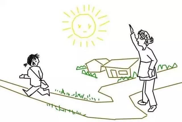 怎么画幼儿园母亲节情景 妈妈目送我上学简笔画的教程 母亲节简笔画