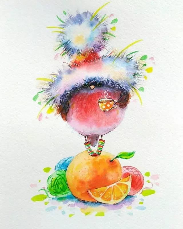萌翻了!萌萌哒的手绘小动物插画,让人欲罢不能!