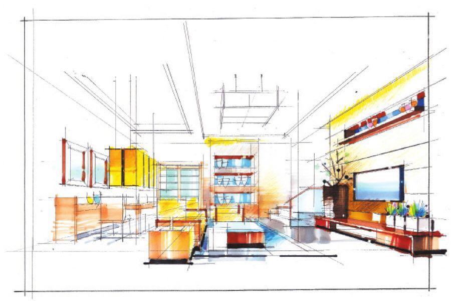 空间透视画法与上色步骤图解