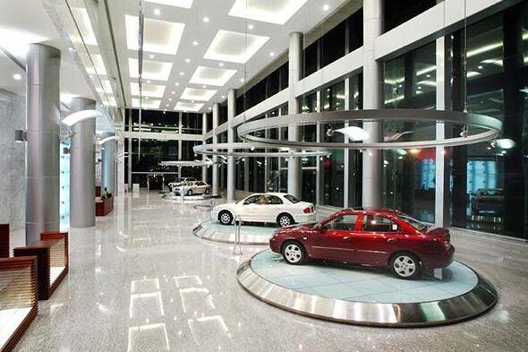 2.汽车展厅设计洽谈区