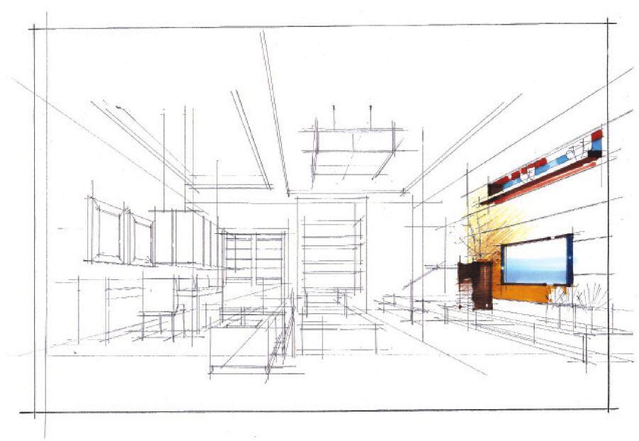 原始线稿 武汉室内设计培训学校 武汉室内软件培训班 武汉手绘设计
