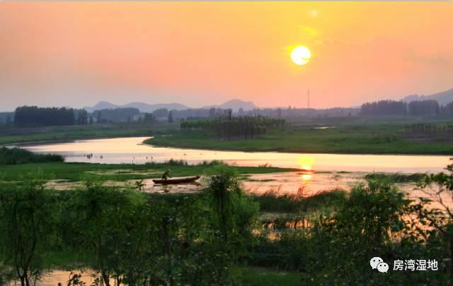 房湾湿地夕阳景-另一种意境之美