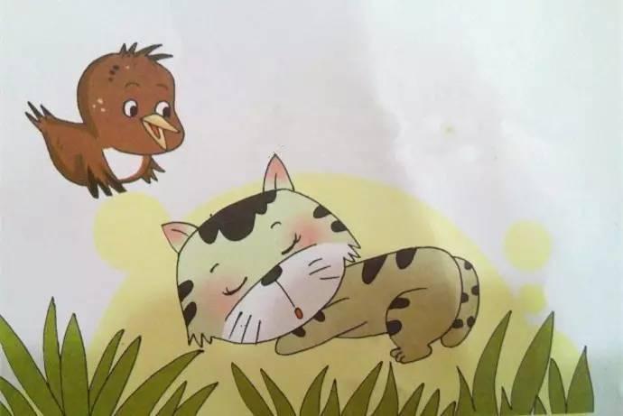 物质上:动画《爱唱歌的小麻雀》,故事中的动物图片和大树图片. 2.