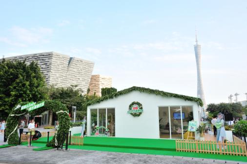时尚女王苏芒现身广州花城广场,揭秘晓明Baby夫妇绿色健康的家