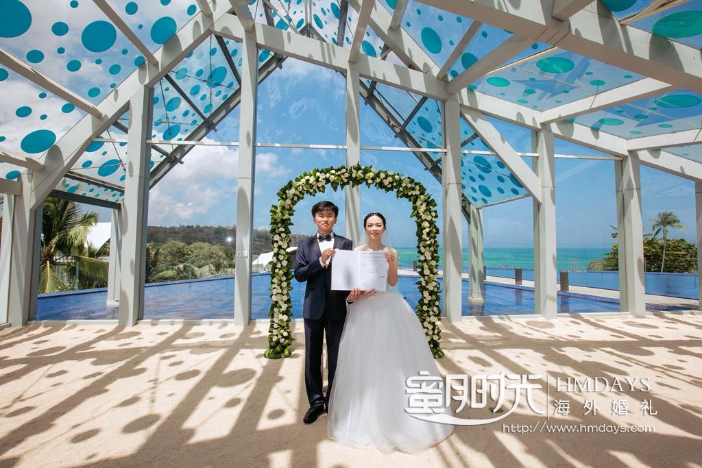 巴厘岛艾美天空教堂婚礼