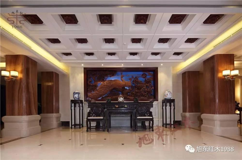 旭东红木新干店 现代中式装修,有了红木家具,高雅别致!
