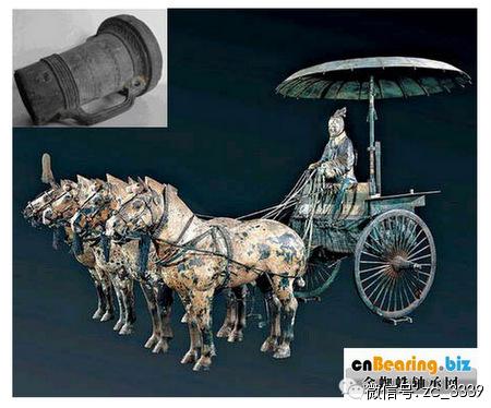秦古代战车矢量图