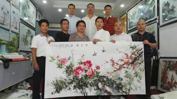 华港书院秘书长黄裔就与艺术朋友于安石阁画廊聚谊