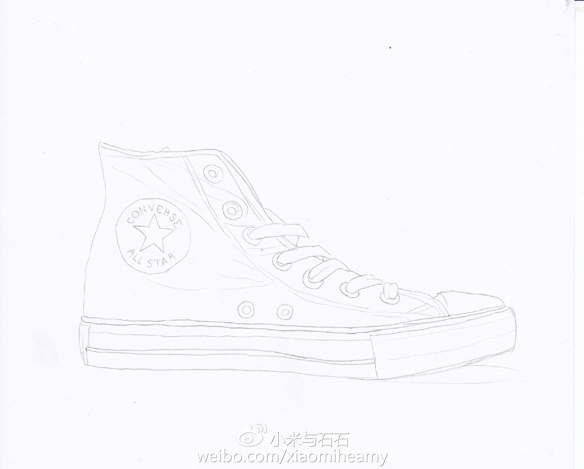 彩铅教程 画一只匡威帆布鞋 小米与石石