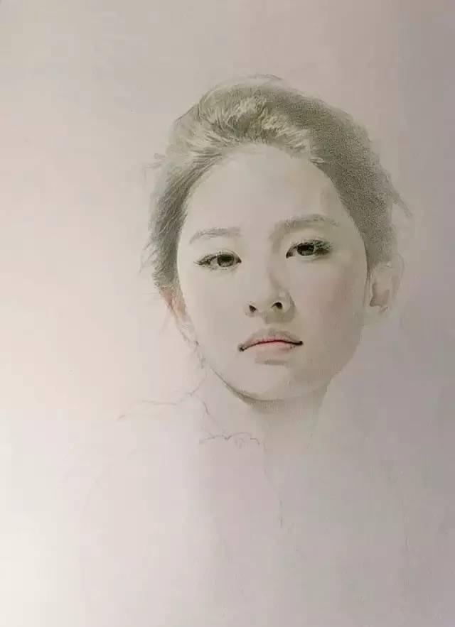 一步步教你画彩铅美女人物肖像!