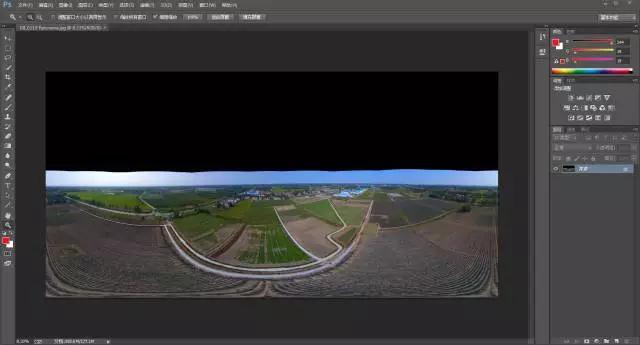 VR学院 VR全景中PS补地补天教程