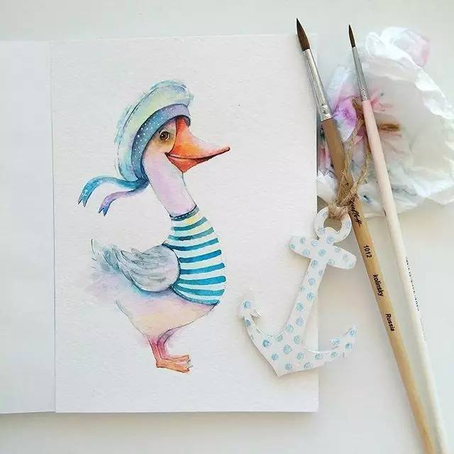 萌萌哒的手绘小动物插画,让人欲罢不能!