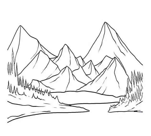 儿童简笔画 画一幅风景画,让孩子与自然更亲近