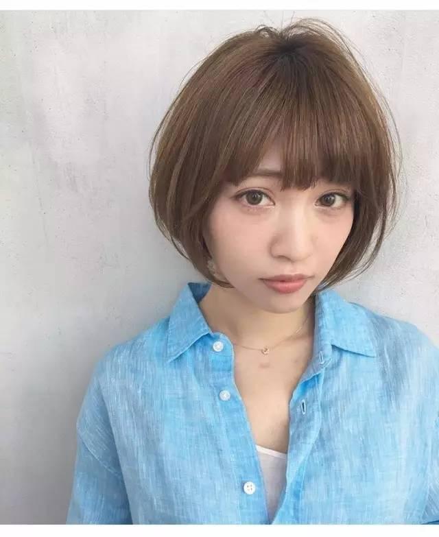 【适合亚洲小脸型女生的日系风格短发发型】图片