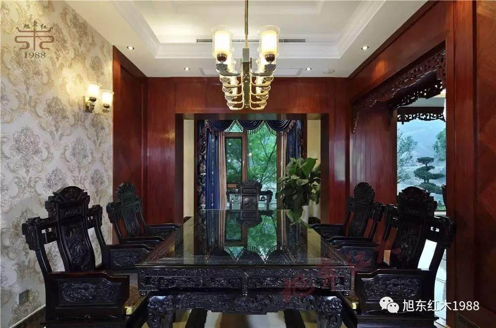 旭东红木新干店|现代中式装修,有了红木家具,高雅别致!