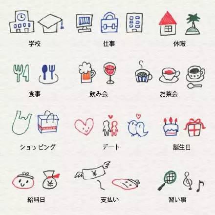 日系育儿简笔画,超萌小清新,转给喜欢手账和简笔画的朋友