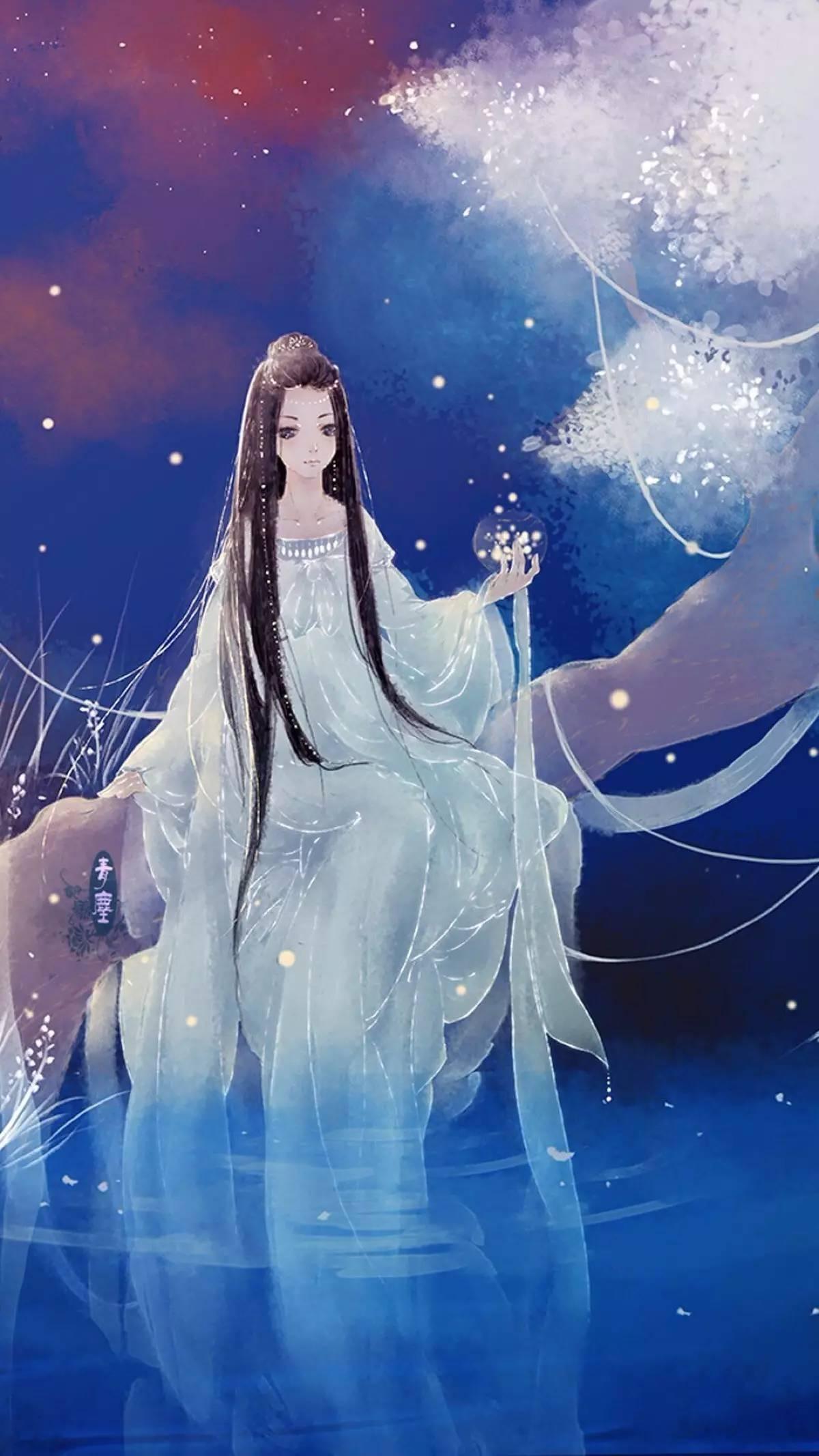 仙女图古风手绘