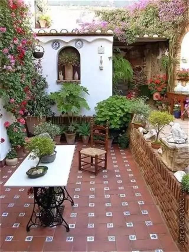 用心打造一个美美的院子,有阳光,?#26032;?#26641;.