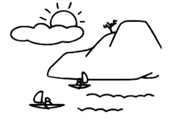 卡通简笔画图片大全;山水风景简笔画;儿童简笔画图片