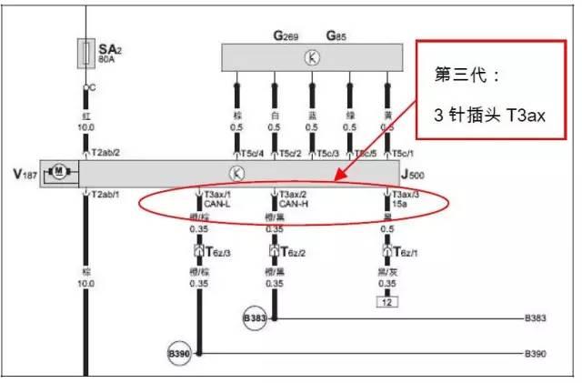 总线上打开内部转向角度传感器 另,自2008 年10 月起,途安方向机由第