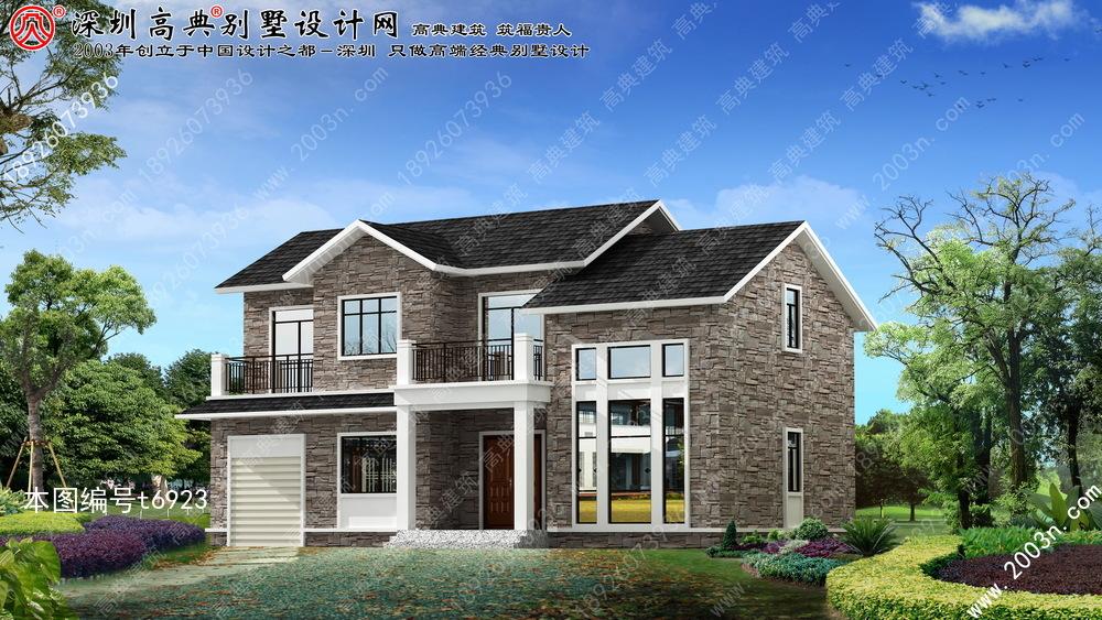 二层别墅设计图首层127平方米
